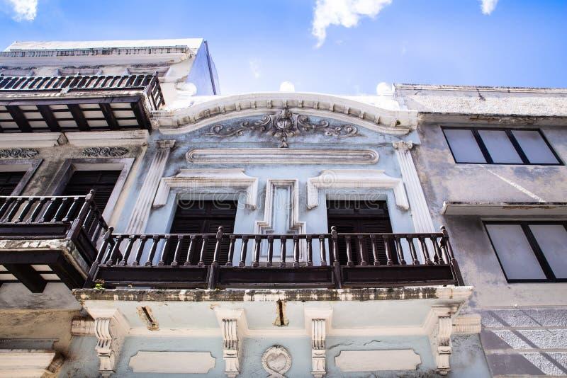 Architettura veduta da San anziano Juan Puerto Rico fotografia stock libera da diritti