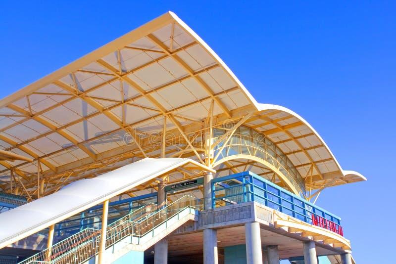 Architettura veloce unica della stazione di transito - BART immagini stock libere da diritti