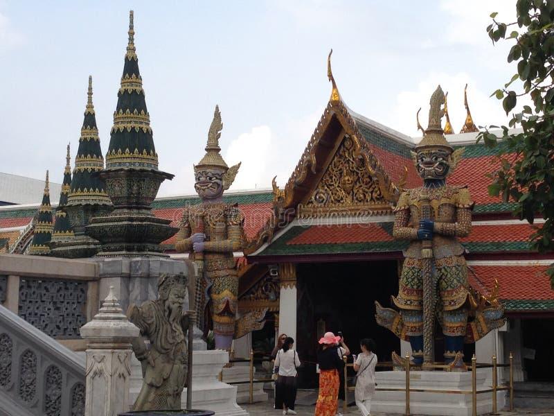 architeture细节在曼谷玉佛寺的 库存图片