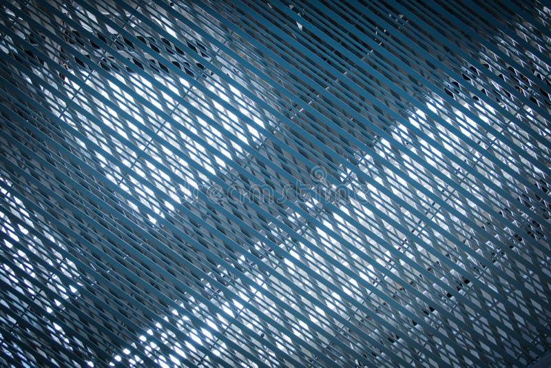Architexture bleu net inoxydable images libres de droits