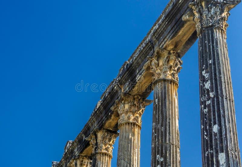 Architraw i szpaltowy szczegół od Euromos, Euromus - fotografia stock