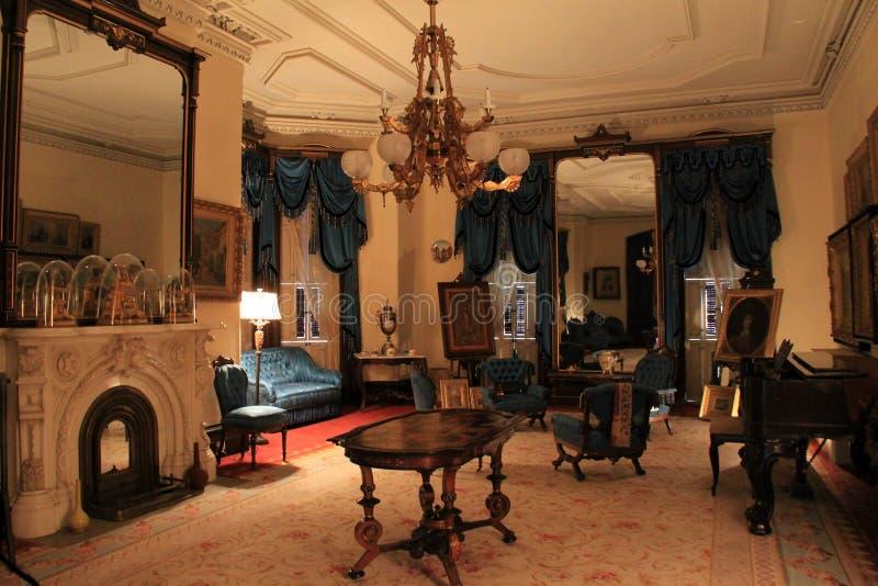 Architure interior completamente da riqueza rica, Richard Bates House Museum, Oswego, New York, 2016 imagens de stock