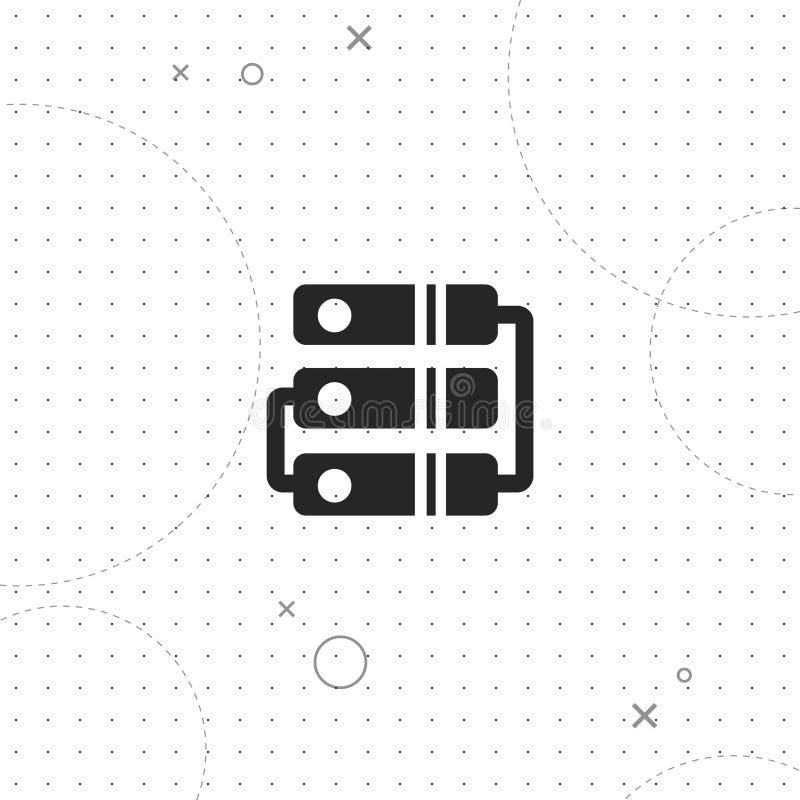 Archiv, Server, beste flache Ikone des Vektors lizenzfreie abbildung
