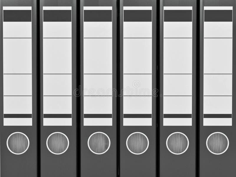 Archiv. Viele Faltblätter auf weißem getrenntem Hintergrund lizenzfreie abbildung