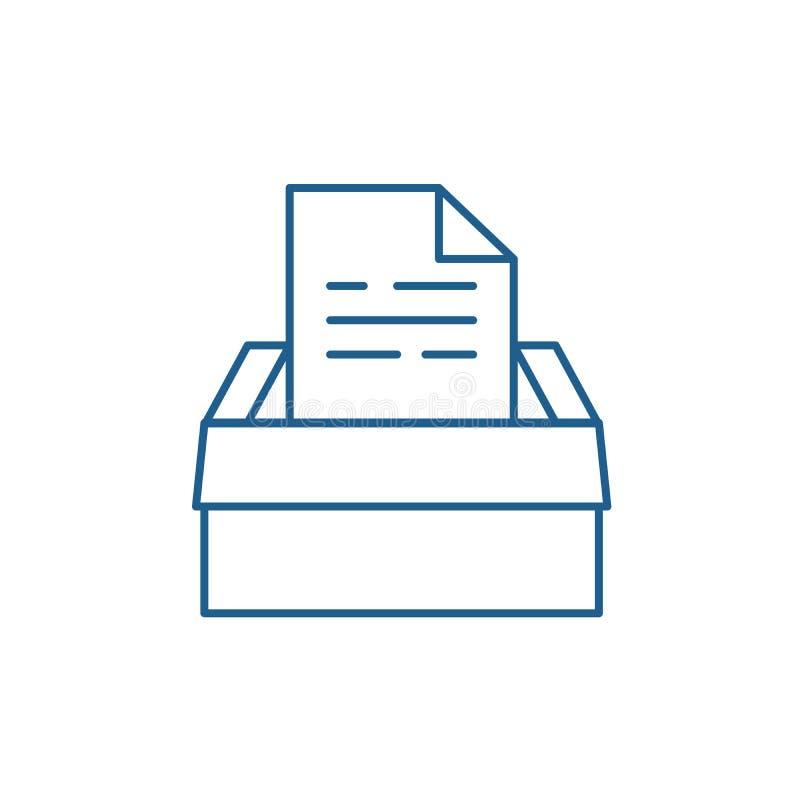 Archiv von Dokumenten zeichnen Ikonenkonzept Archiv des flachen Vektorsymbols der Dokumente, Zeichen, Entwurfsillustration lizenzfreie abbildung