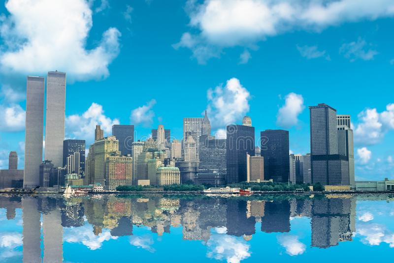 Archivalische Skyline New York lizenzfreies stockbild