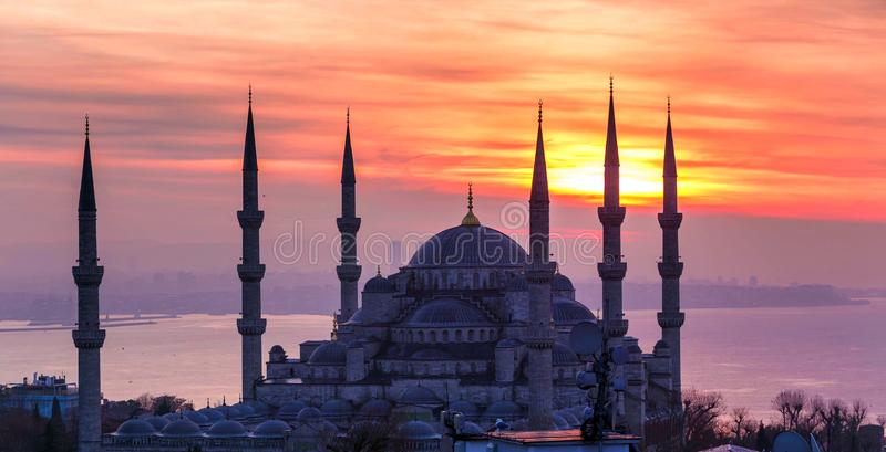 Archivbild der Skyline von Istanbul, die Türkei stockfotografie