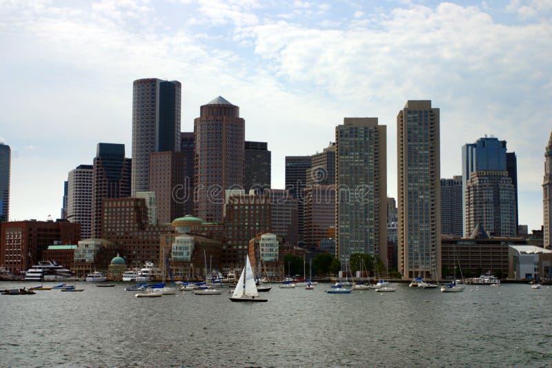 Archivbild von Boston-Skylinen, innerer Hafen, USA lizenzfreies stockbild