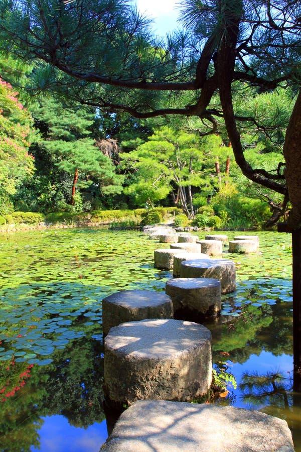 Archivbild von Heian-Schrein, Kyoto, Japan lizenzfreie stockfotos
