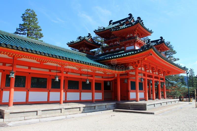 Archivbild von Heian-Schrein, Kyoto, Japan lizenzfreies stockfoto