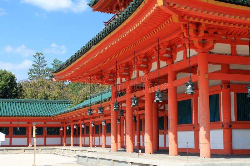 Archivbild von Heian-Schrein, Kyoto, Japan stockfoto
