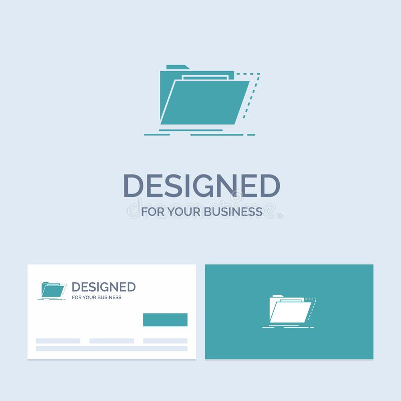 Archive, catalog, directory, files, folder Business Logo Glyph Icon Symbol for your business. Turquoise Business Cards with Brand. Logo template.. Vector EPS10 vector illustration