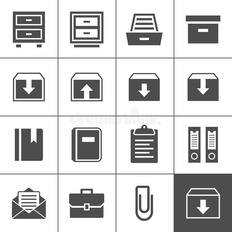 Download Archive icons stock vector. Image of desk, icon, directory - 33004066