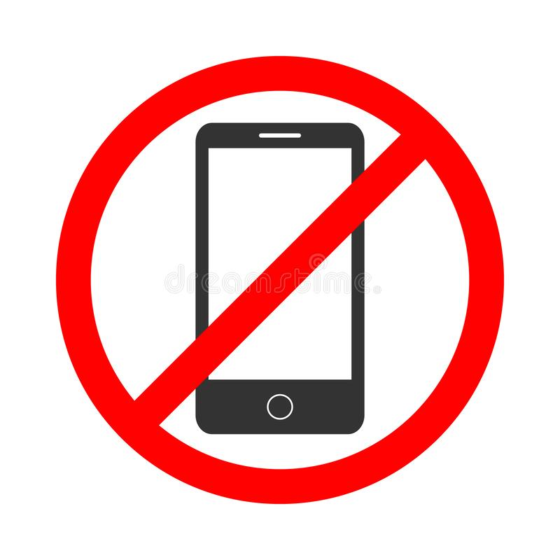 Do not use the phone royalty free illustration
