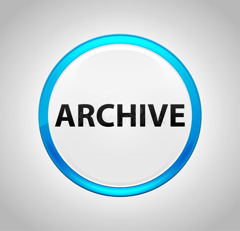 Archives autour de bouton poussoir bleu illustration libre de droits