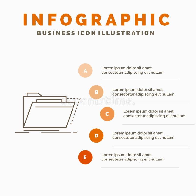 Archives, catalogue, annuaire, dossiers, calibre d'Infographics de dossier pour le site Web et pr?sentation r illustration libre de droits