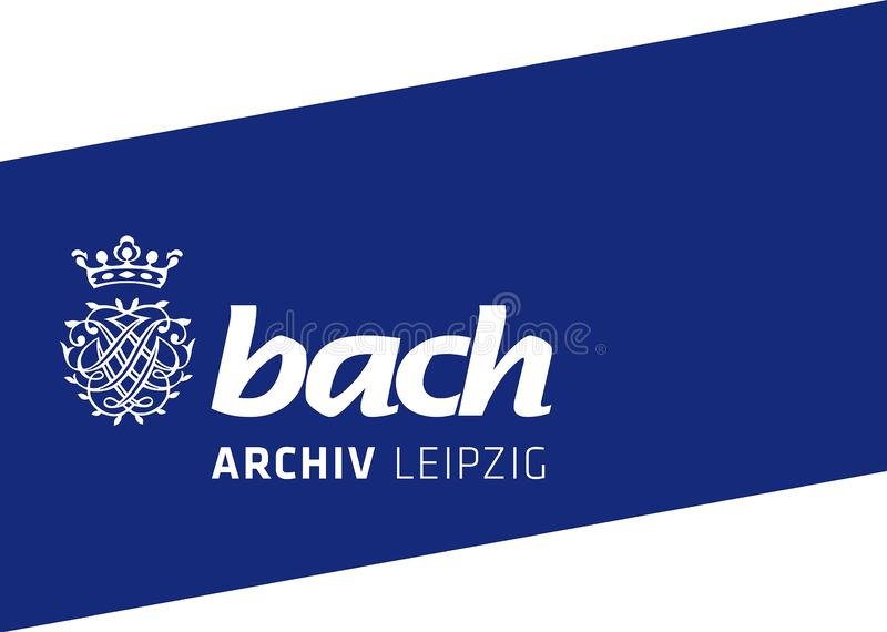 Archives de Bach à Leipzig - en Allemagne illustration stock