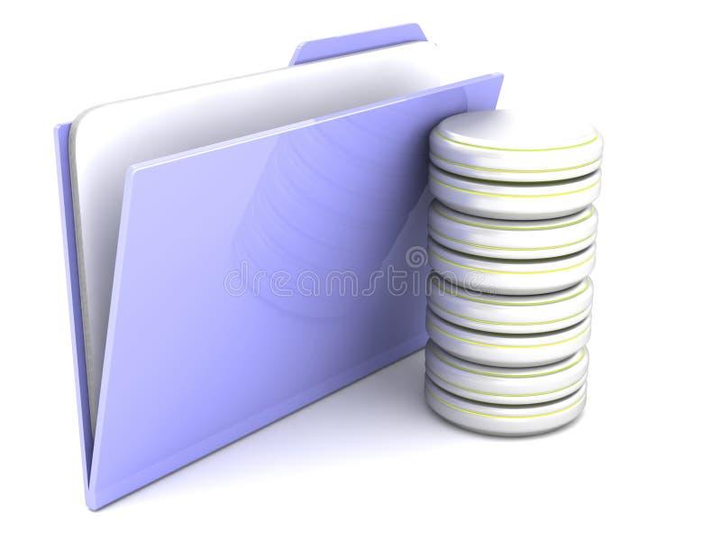 Archives de données de dossier illustration de vecteur
