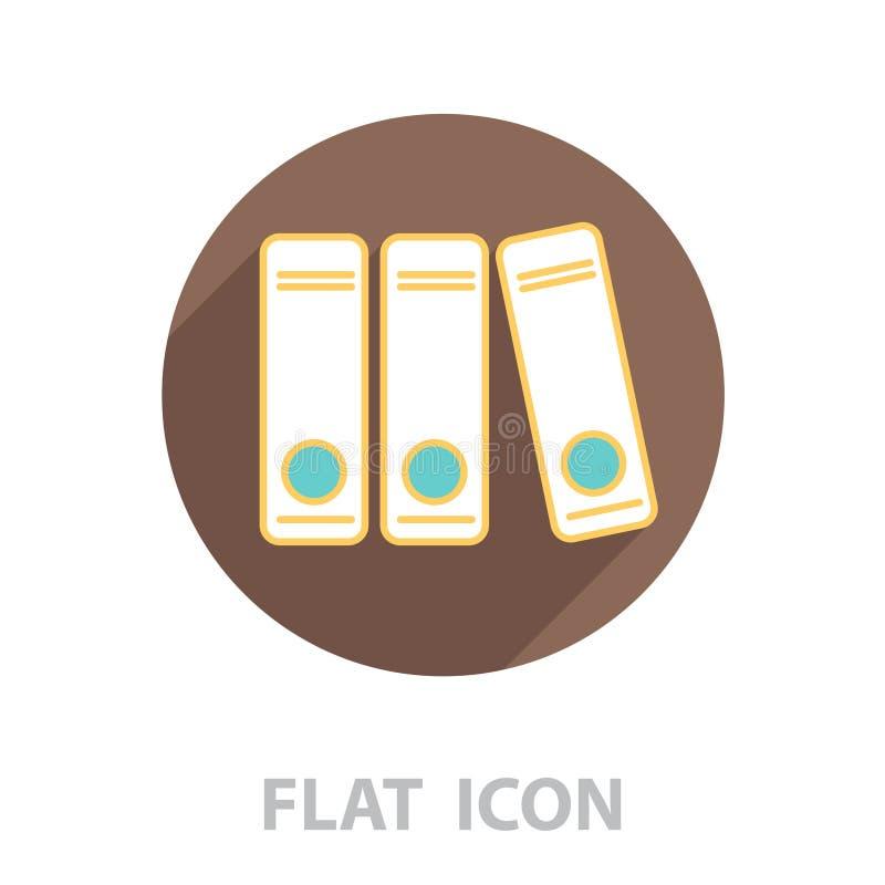 Archives folder line icon. Vector royalty free illustration