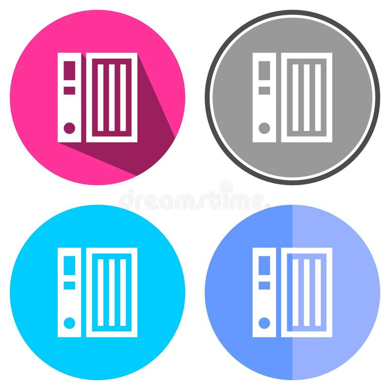 Archives. Icons flat archives for Web, Mobile and business vector illustration
