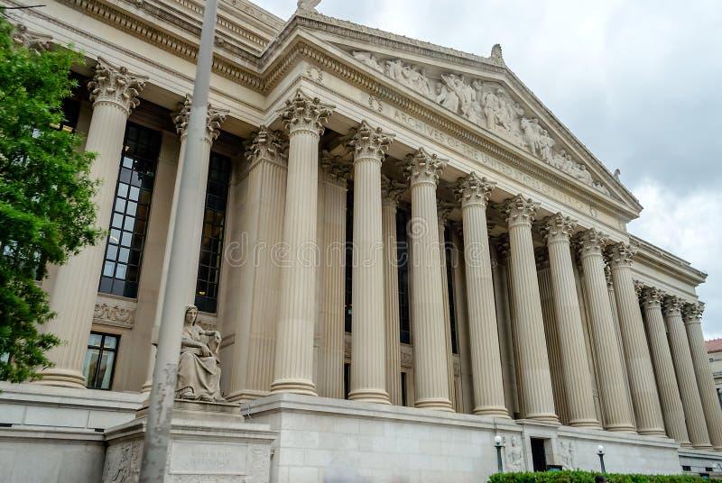Archives nationales dans le Washington DC photographie stock libre de droits