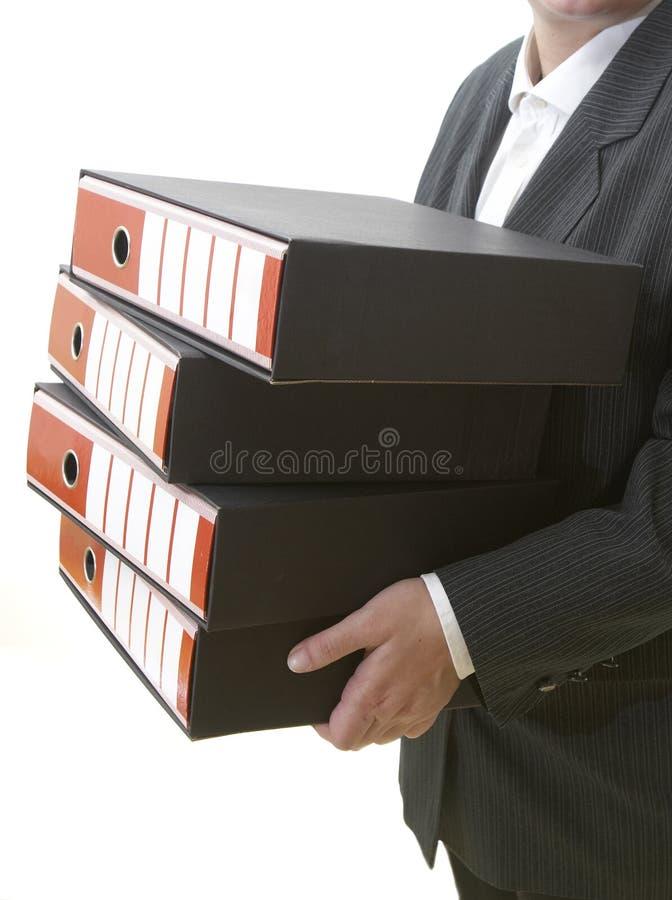 Archivi 1 di affari fotografia stock