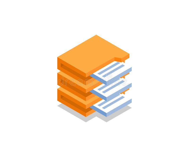 Archivieren Sie mit Dokumentenikone, Vektorsymbol lizenzfreie abbildung