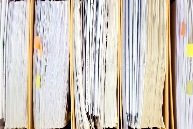 Archivieren Sie Stapel, Dateiordnerabschluß oben für Hintergrund. lizenzfreies stockfoto