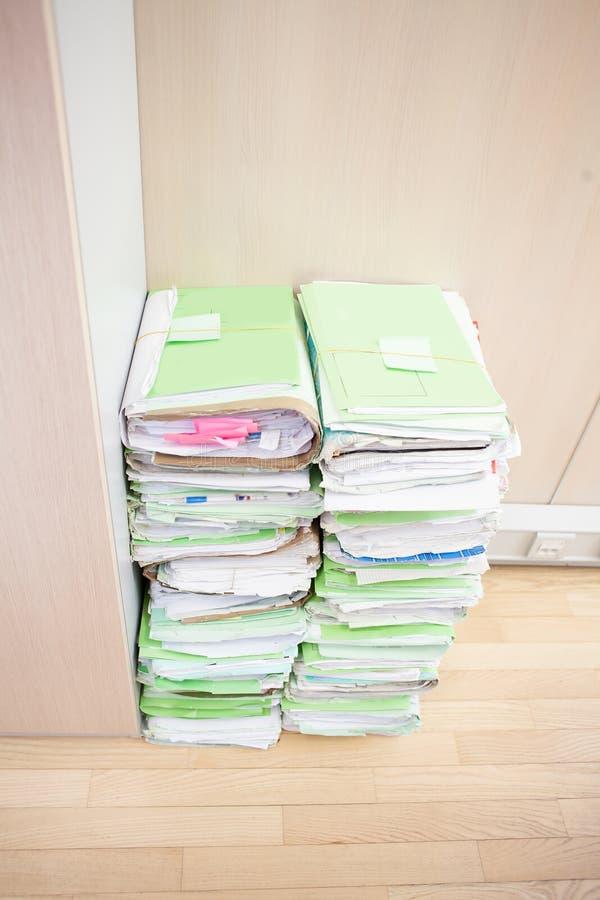 Archivierung von Dokumenten stockbild