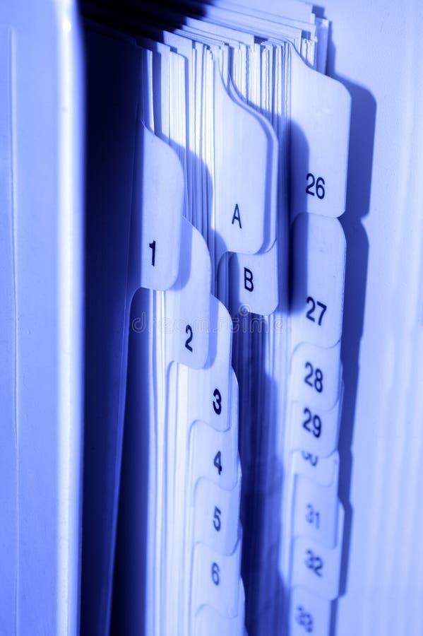 Archivierungs-Tabulatoren lizenzfreie stockbilder