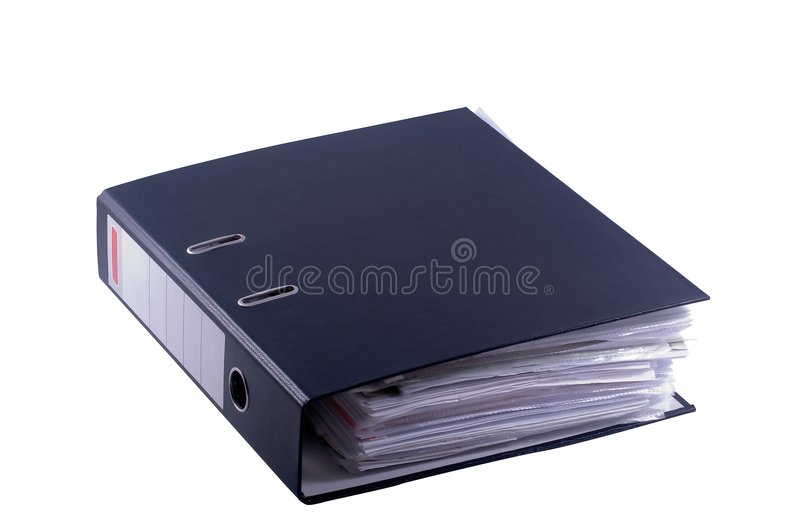 Archivio binder1 fotografia stock