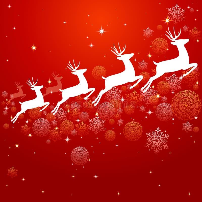 Archivio d'annata di progettazione EPS10 del fondo degli elementi di Natale. illustrazione vettoriale