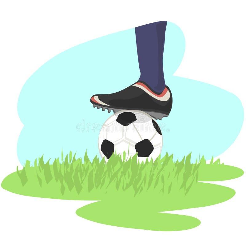 Archivio di vettore + di calcio illustrazione vettoriale