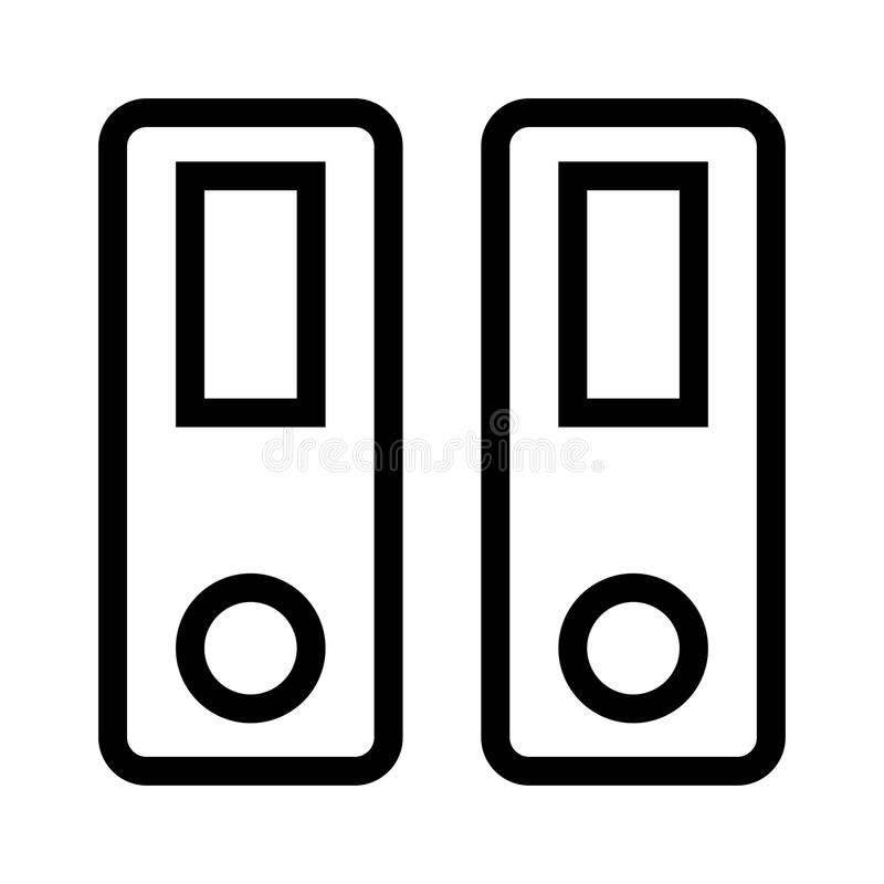 Archivlinie Ikone vektor abbildung