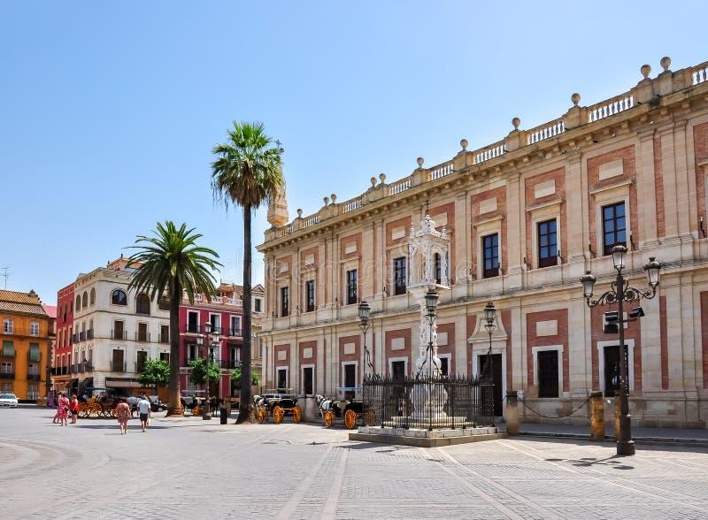 Archivo de los indies Archivo General de Indias, Sevilla, España fotos de archivo