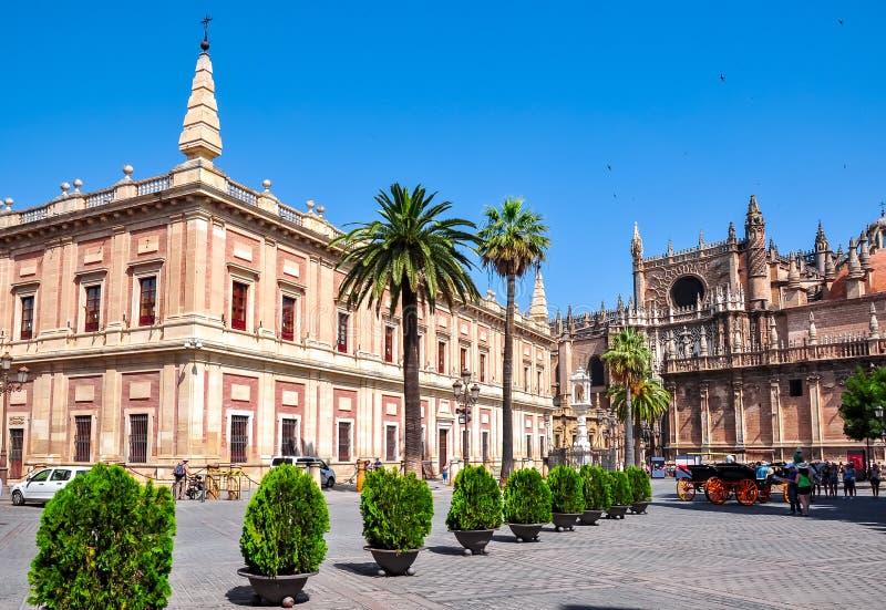 Archivo de los indies Archivo General de Indias, Sevilla, España imagen de archivo libre de regalías