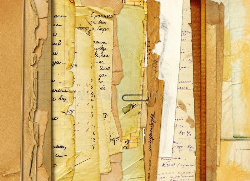 Archivo viejo con las cartas, fotos stock de ilustración