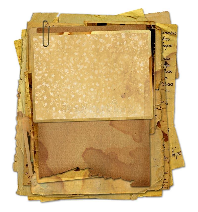 Archivo viejo con las letras, fotos stock de ilustración