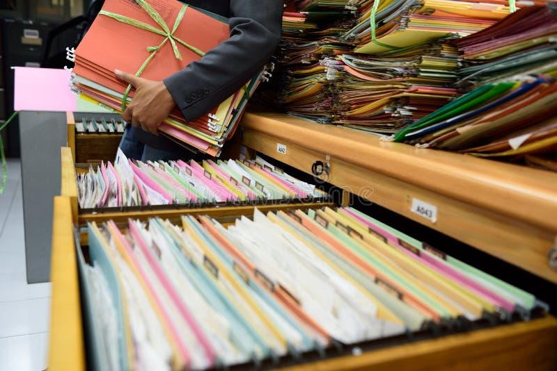 Archivos de almacenamiento fotos de archivo