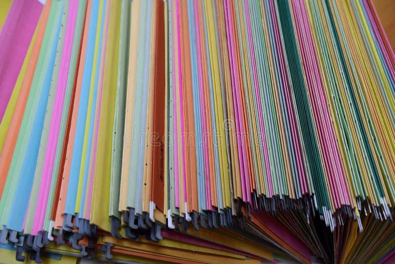 Archivos de almacenamiento foto de archivo libre de regalías