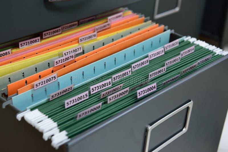Archivos de almacenamiento fotografía de archivo