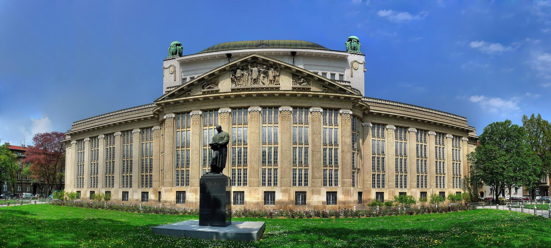 Archivos de estado croatas que construyen en Zagreb fotos de archivo libres de regalías
