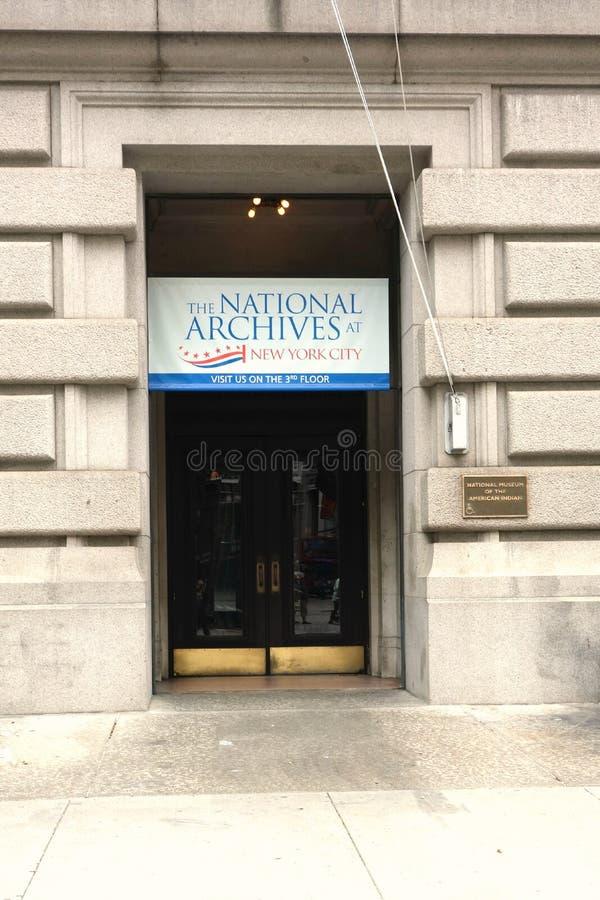 Archivos nacionales en New York City fotos de archivo