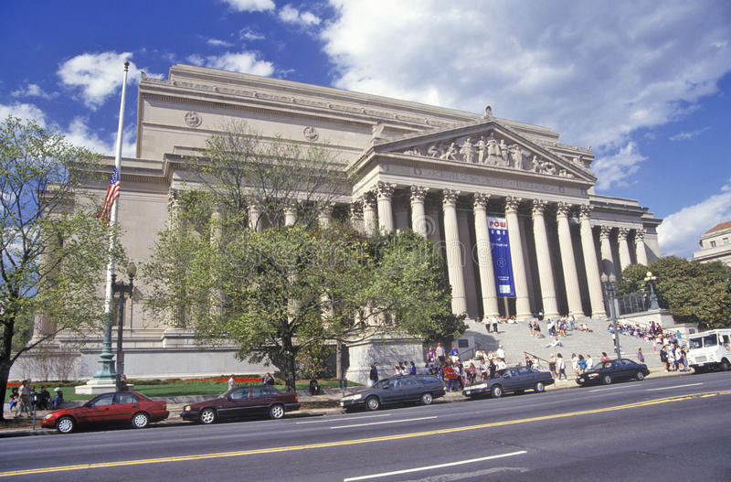 Archivos nacionales, hogar de la constitución, Washington, DC imagenes de archivo