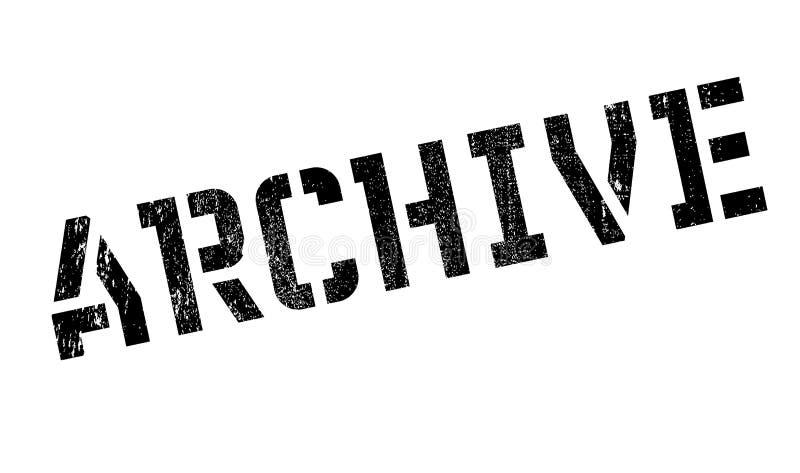 Archivstempel stock abbildung