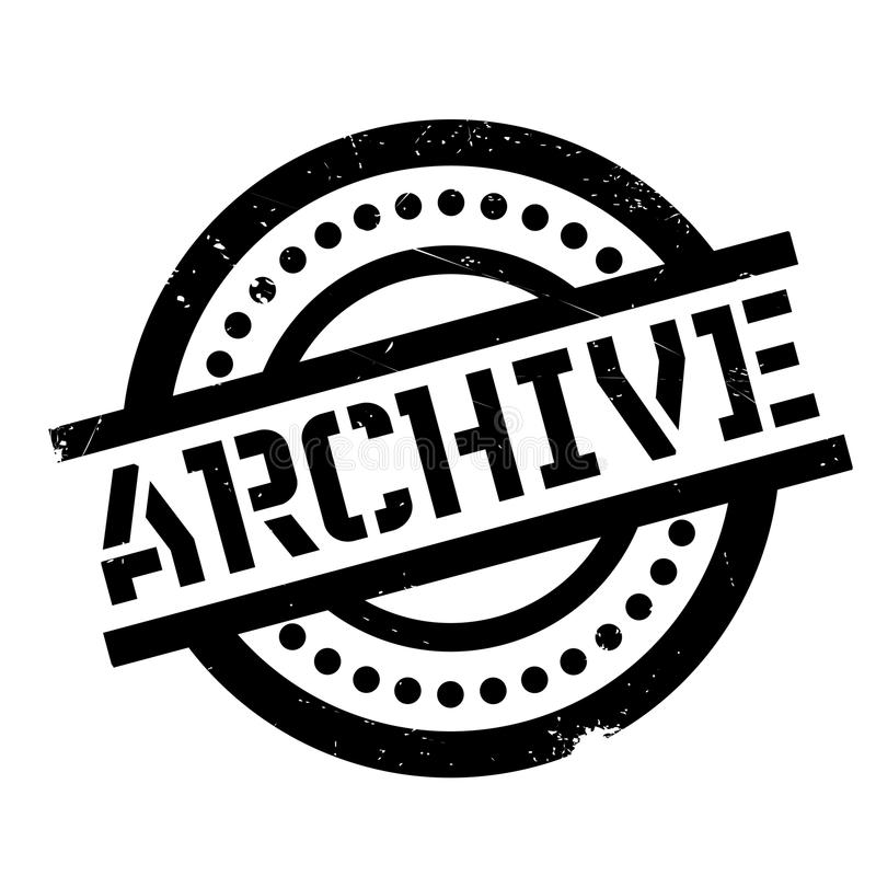 Archivstempel stockbild