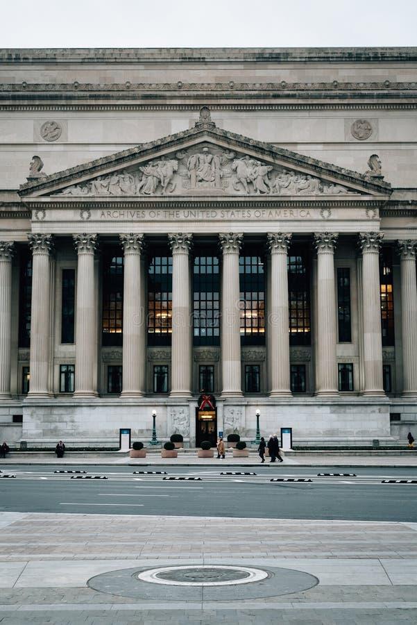 Archiwa Stany Zjednoczone w Waszyngton, DC zdjęcie stock