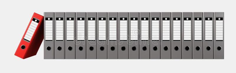 archiwizujący Falcówki z rzędu ilustracja wektor