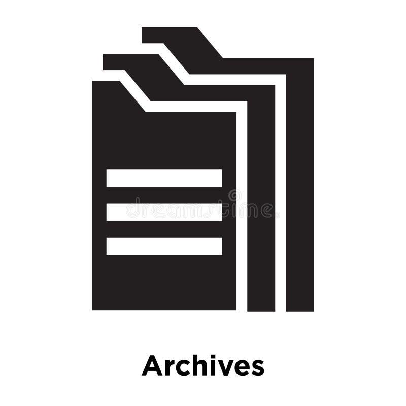 Archiwizuje ikona wektor odizolowywającego na białym tle, loga pojęcie ilustracja wektor