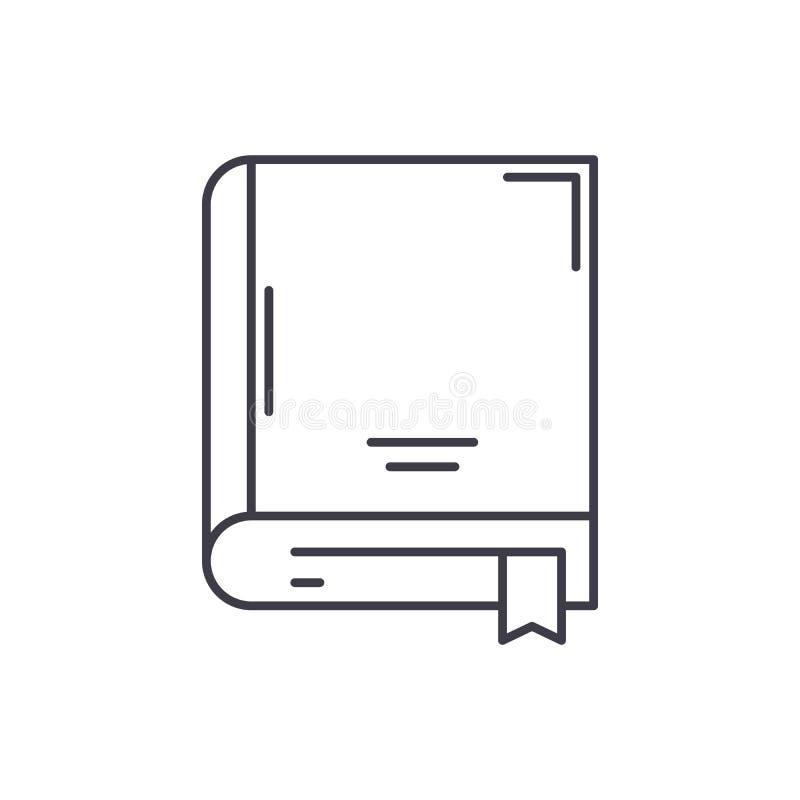 Archiwum książki linii ikony pojęcie Archiwizuje książkową wektorową liniową ilustrację, symbol, znak ilustracji